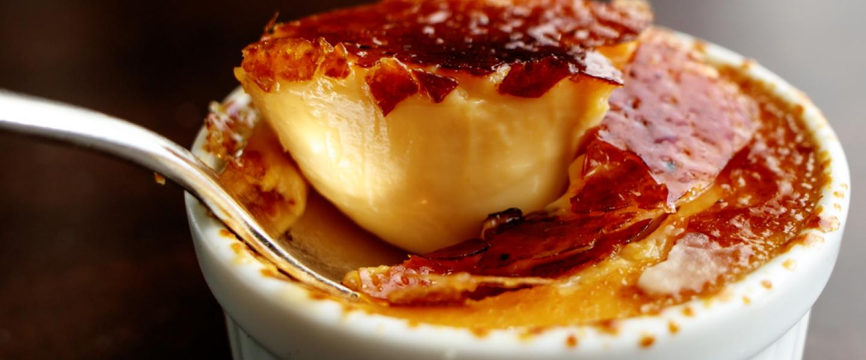 Crème brûlée : Imaginez une belle croûte dorée et caramélisée...